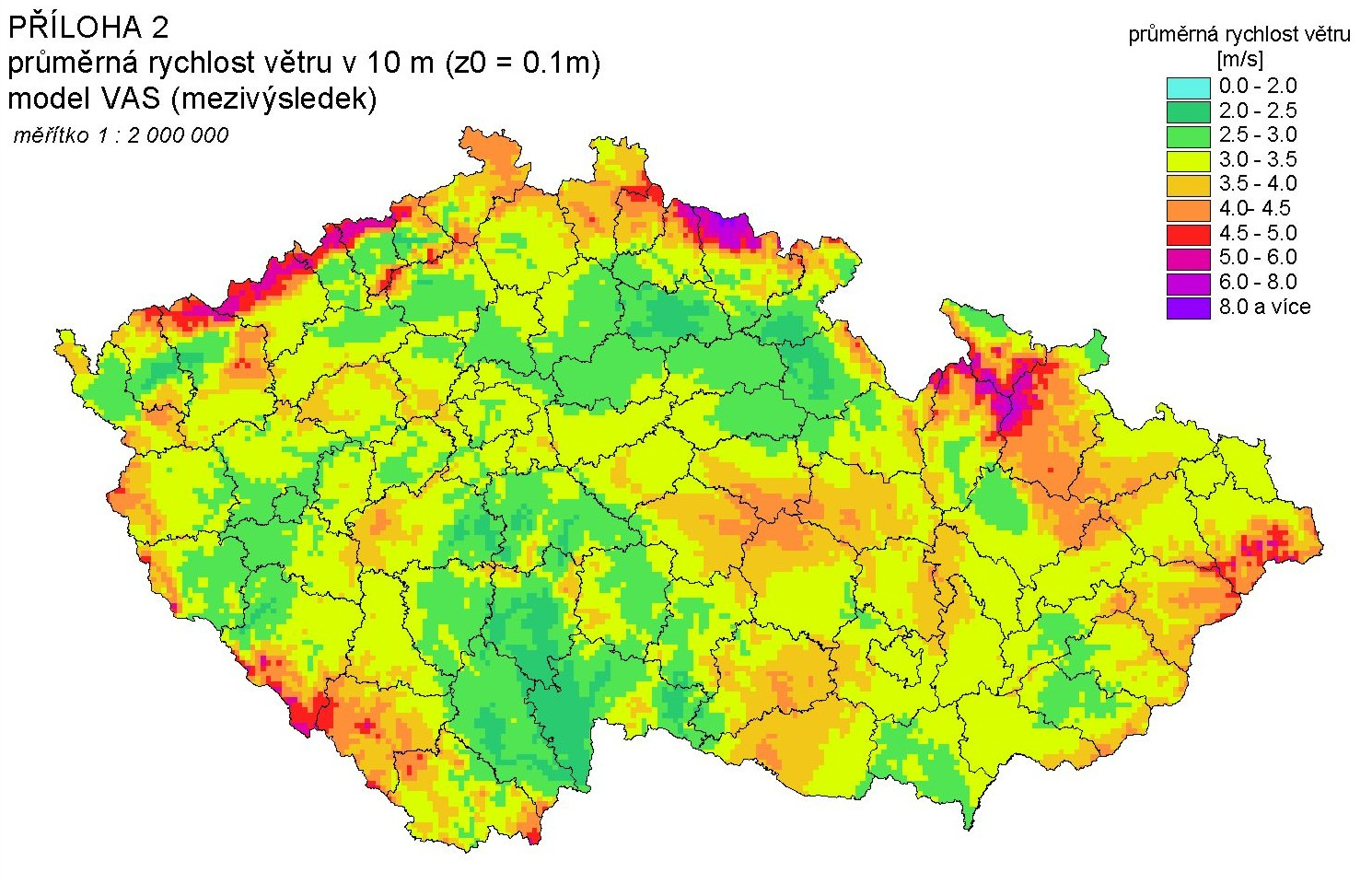 Mapa Mapa Vetru
